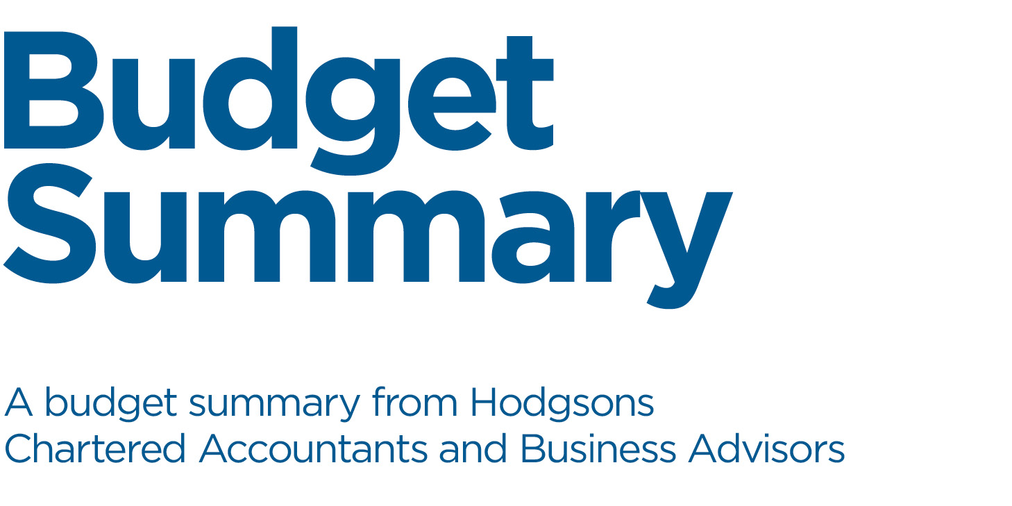 Hodgsons Chartered Accountants Budget Summary