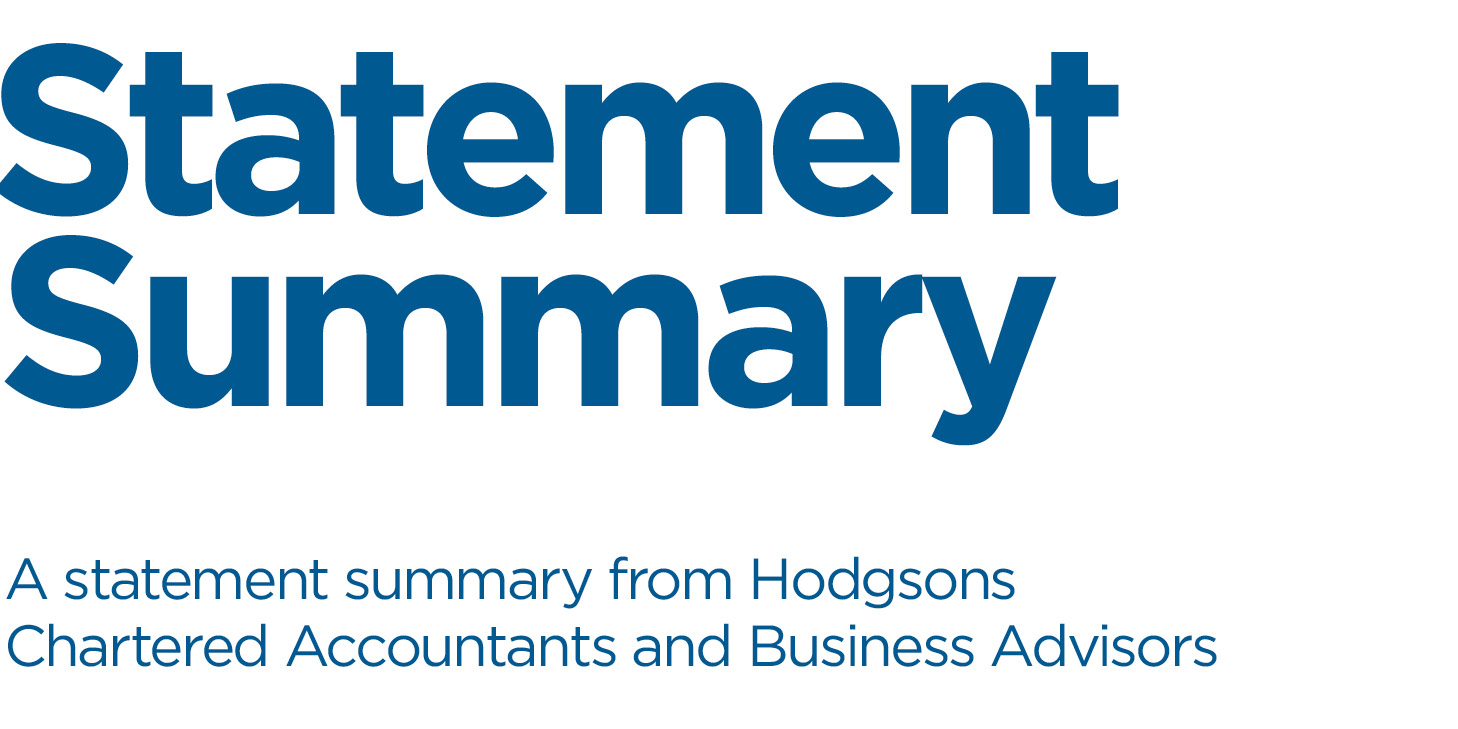 Hodgsons Chartered Accountants Autumn Statement Summary